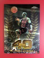 🔥🏀1997-98 Topps CHROME Topps 40 #T5 Michael Jordan Chicago Bulls - RARE CARD!