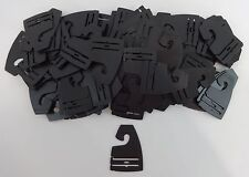 Neck Tie Hanger Qty. 400 Black Plastic Hook Retail Shopping Supply