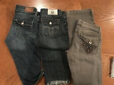 Size 5/6 Jeans and CAPRIS Lot, 3 PAIRS, H&M, GOOD TIMES,L.E.I