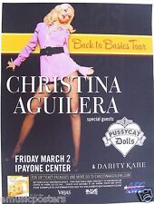 "CHRISTINA AGUILERA ""BACK TO BASICS TOUR"" 2007 SAN DIEGO CONCERT POSTER -Pop Diva"
