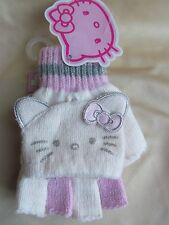Gorgeous Pink & Silver Hello Kitty Girls Gloves/Mittens combo NEW 8-10 years