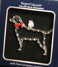 Dog Labrador Collie Mutt Christmas ornament Nib Regents Square European Crystals