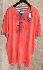 Tee-shirt orange  marque Monte Carlo taille 5XL étiqueté 70€