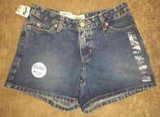New! OLD NAVY Medium Wash Low Waist Shortest Inseam Denim Jean SHORTS, Sz 1, NWT
