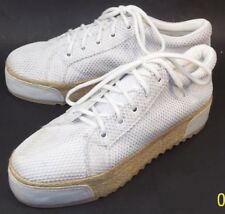 Shakuhachi Wo's EU41 US10 White Handmade Textile Leather Platform Oxford Shoes