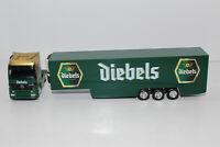 hg1128, Alter Herpa LKW Sattelzug MB Brauerei Diebels Bier 1:87 / H0