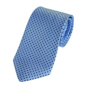 Blue Small Spot English Silk Polka Dot Tie (FT87)