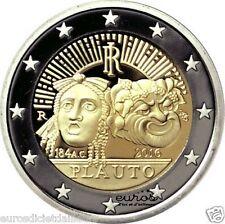 """Pièce 2 euros commémorative ITALIE 2016- """"Plauto"""" - UNC"""