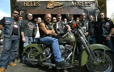 Hells Angels Boss Sonny Barger & His Posse Glossy 8.5x11 Photo HA-522