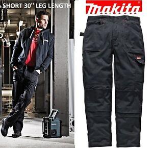 Makita SHORT LEG Trousers Multi Pocket Mens DXT Knee Pad Cargo Work Pant REDUCED