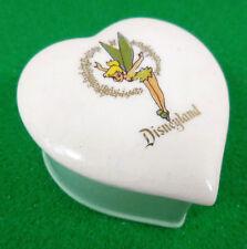 Disneyland Park Souvenir c1956 Tinkerbell Heart Eleanore Welborn Ceramic Box