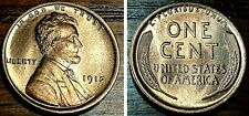 1912 P 1c Lincoln Cent Wheat Penny BU++ #F22