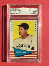 Boston Red Sox Ted Williams 1961 Fleer #152 PSA 5 EX (MK)