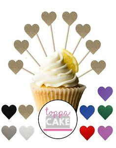 Love Heart Cupcake Toppers - 18pk - Birthday Party Cupcake Decorations