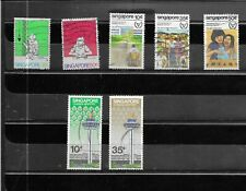 SINGAPORE 1981.SELECTION OF 7.  FINE USED. AS PER SCAN
