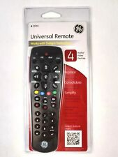 GE Universal Remote 4 Audio / Video Devices # 24944 General Electric Black New