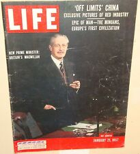 Life Magazine January 21, 1957 car ads Cadillac, Ford, Studebaker