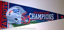 New England Patriots Pennant  2013 AFC East Champions Brand Full Size SOFT FELT