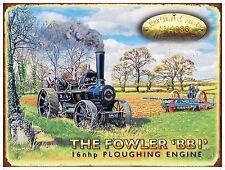 Fowler, Labourage, vapeur TRACTION MOTEUR vintage, moyen métal / BOITE enseigne,