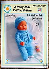 "NEW DOLLS KNITTING PATTERN 16""-18""inch BABYBORN type doll.by Val Young"