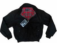 Winter Harrington Jacket Black Thick Heavy Warm Wool Blend Skinhead Oi Punk Mod