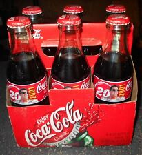 Tony Stewart #20 Coca Cola Glass Bottles 8 oz. 6 pack Carrier Nascar Racing