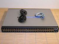 Cisco Linksys SRW248G4P Managed 48x PoE + 4x Gigabit port Switch Webview