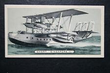 Short Singapore 111   RAF Flying Boat   1930's Original Vintage Card # VGC