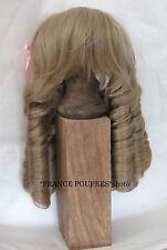 """perruque blonde boucles Jumeau®tête44/46cm-poupée ancienne-doll Wig head sz17.5"""""""