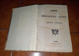 CODICE DI PROCEDURA CIVILE COMMERCIO PER MARINA MERCANTILE REGNO D'ITALIA 1865