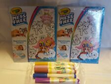 Crayola Color Wonder Mess Free - Whisker Haven Tales - Lot of 2 + 5 Markers