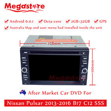 """6.2"""" Octa Core Android 6.0 Car DVD GPS For Nissan Pulsar 2013-2016 B17 C12 SSS"""
