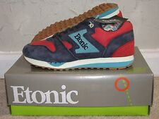 BAIT x Etonic Trans Am Trainer Leather 'Sunset' Red / Navy Mens Size 10 DS NEW!