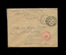 """ARMY BASE POST OFFICE"" 1914 w/British Cross Endorsed R. S. Pratt, Lieut. R.A.Gs"