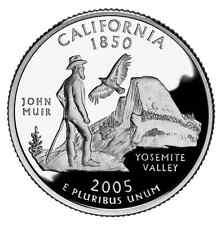 2005 S SILVER GEM PROOF CALIFORNIA STATE QUARTER 90% SILVER