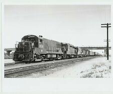 Vintage 1980s Pennsylvania Railroad Photo Train at Laramie, WY taken 1967 8x10