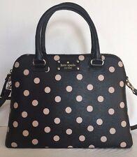 NWT Kate Spade small Rachelle Wellesley Printed handbag Black / beige dots