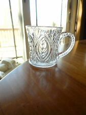 "EPG - Unknown mfg. ""Dots in Oval"" crystal mug"