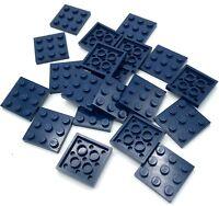 Lego 20 New Dark Blue Plates 3 x 3 Dot Building Blocks Pieces