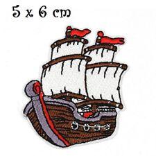 ÉCUSSON PATCH - Bateau Pirate Navire Mer ** 5 x 6 cm ** Applique thermocollante