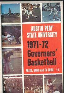 1971 - 1972 Austin Peay State Basketball Press Media Guide bkbx7
