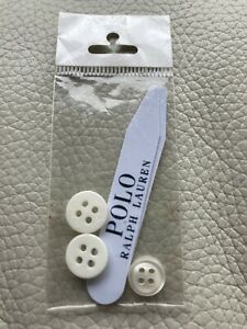 Polo Ralph Lauren White Shirt Collar Stays Set 4.5 cm Stiffeners NEW