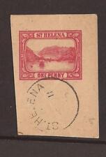 ST HELENA 1926 carte postale ajourées.