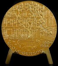 Médaille Etablissement scolaire catholique privé Gerson Paris 1984 Emmel medal