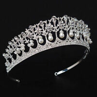Sweet Bridal Tiara Pearl Vintage Hair Accessories For Princess Wedding