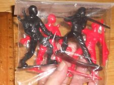 "Pk w/4 Different Ninja Combat Warrior 3 1/2"" Figures Solid Plastic Non Move-able"