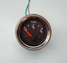 "Fuel Gauge, 2""/ 52mm, black/chrome, with harness"