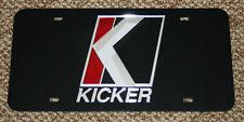 "KICKER Logo Laser Cut Mirror License Plate Tag 10"" 12"" Subwoofer Amplifier"
