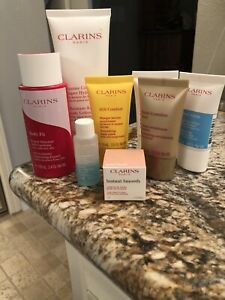 Clarins 8 Piece Deluxe & Travel Size Bundle NEW