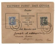 More details for zanzibar 1946 victory illustrated fdc first day cover to goa ws24249